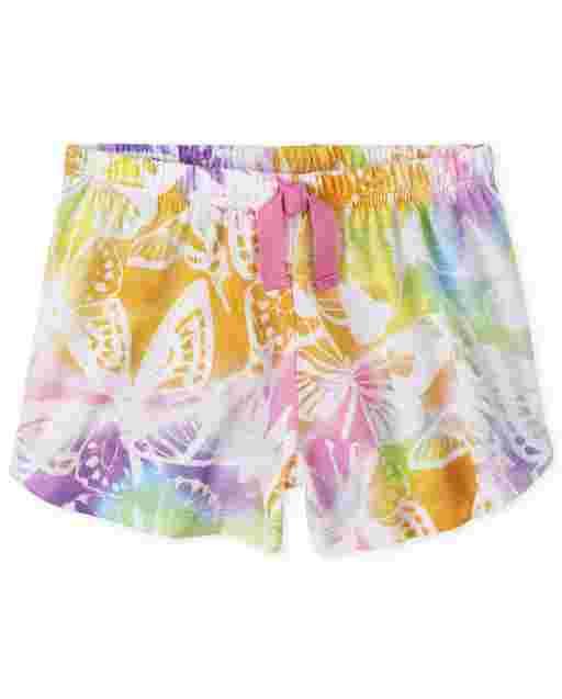 Shorts de pijama niña mariposa arcoíris