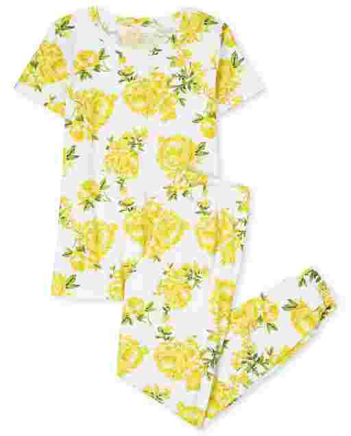 Womens Mommy And Me Short Sleeve Floral Print Matching Cotton Pajamas