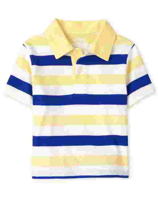 Baby And Toddler Boys Short Sleeve Striped Jersey Polo