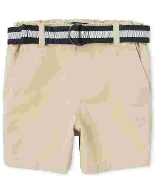 Baby And Toddler Boys Belted Woven Chino Shorts