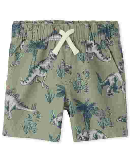 Baby And Toddler Boys Print Woven Pull On Jogger Shorts