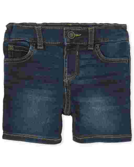 Baby And Toddler Boys Super-Soft Stretch Denim Shorts