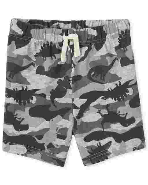 Baby And Toddler Boys Dino Camo Print Knit Shorts