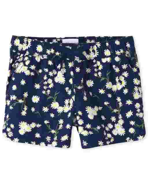 Girls Daisy  Twill Pull On Shorts