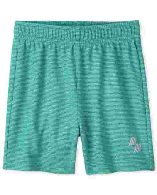 Pantalones cortos de baloncesto de rendimiento de punto marled para bebés y niños pequeños PLACE Sport