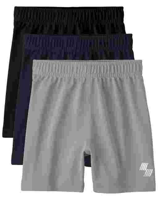 Baby And Toddler Boys PLACE Sport Knit Basketball Shorts 3-Pack