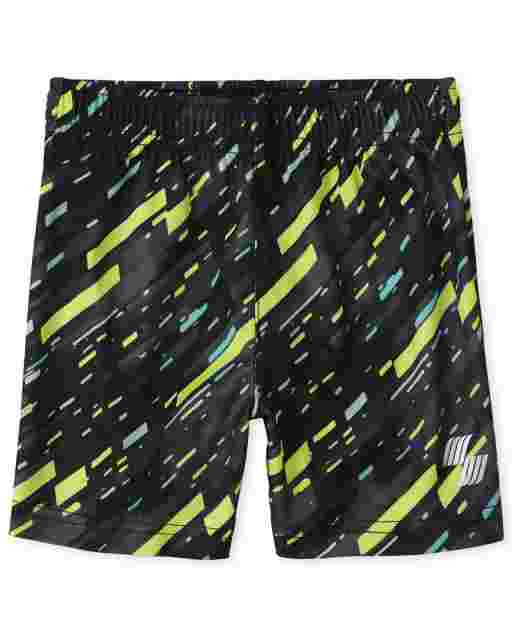 Baby And Toddler Boys PLACE Sport Print Knit Performance Basketball Shorts