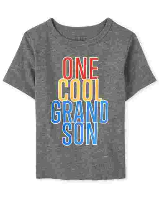 Baby And Toddler Boys Short Sleeve 'One Cool Grandson' Graphic Tee