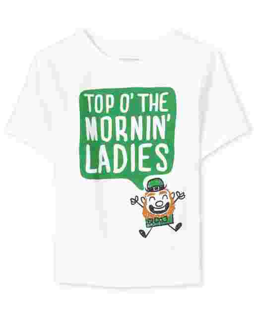 Baby And Toddler Boys St. Patrick's Day Short Sleeve 'Top O' The Mornin' Ladies' Graphic Tee