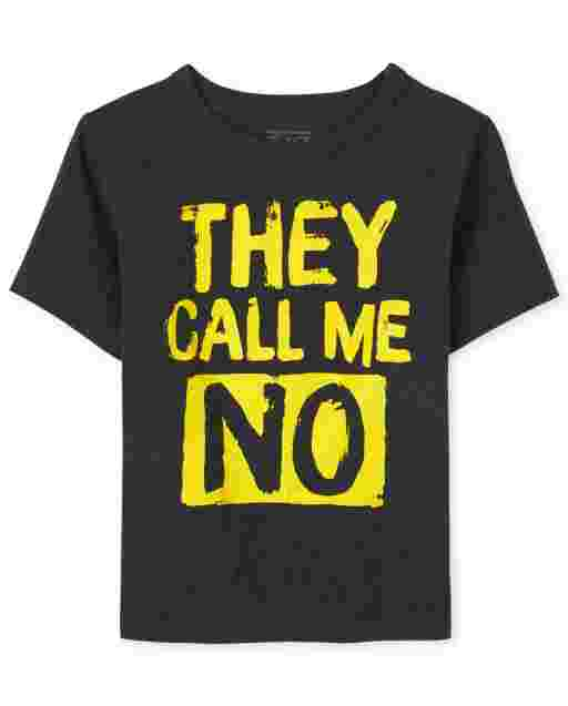 Baby And Toddler Boys Short Sleeve 'They Call Me No' Graphic Tee