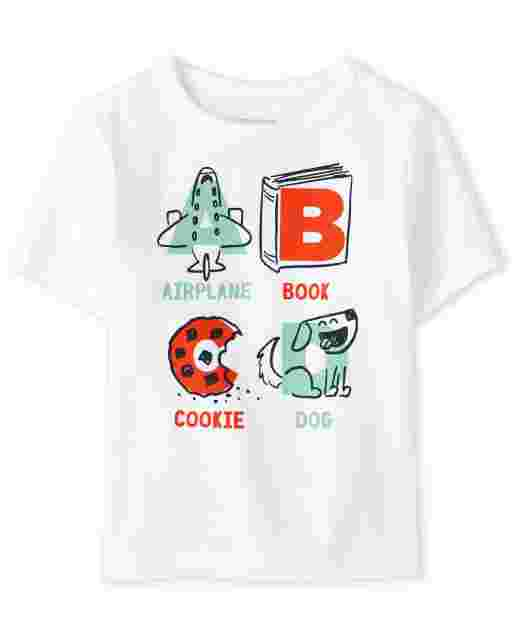 Baby And Toddler Boys Short Sleeve 'ABCD' Graphic Tee