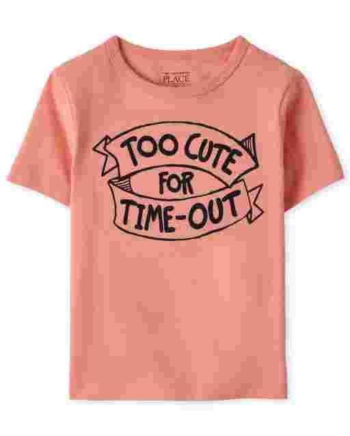 Camiseta estampada Time Out para bebés y niños pequeños