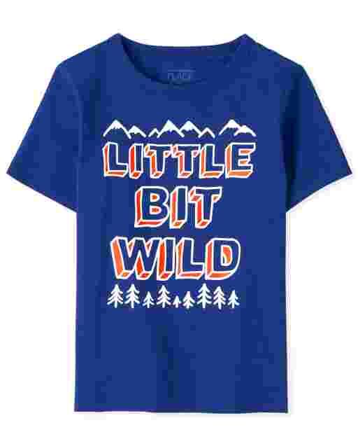 ' Little Bit Wild ' manga corta para bebés y niños pequeños