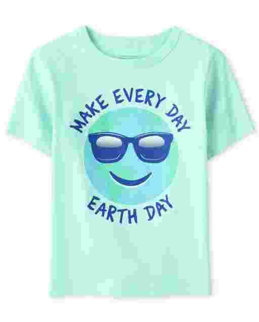 Baby And Toddler Boys Short Sleeve 'Make Every Day Earth Day' Graphic Tee