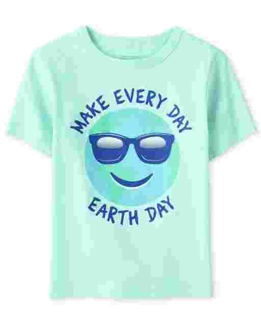 ' Make Every Day Earth Day ' manga corta para bebés y niños pequeños