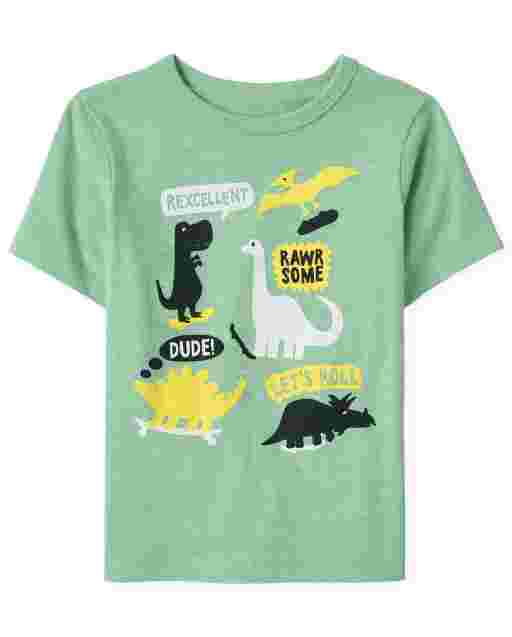 Baby And Toddler Boys Short Sleeve Dino Graphic Tee