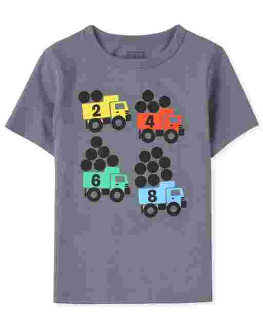 Baby And Toddler Boys Short Sleeve Trucks Graphic Tee