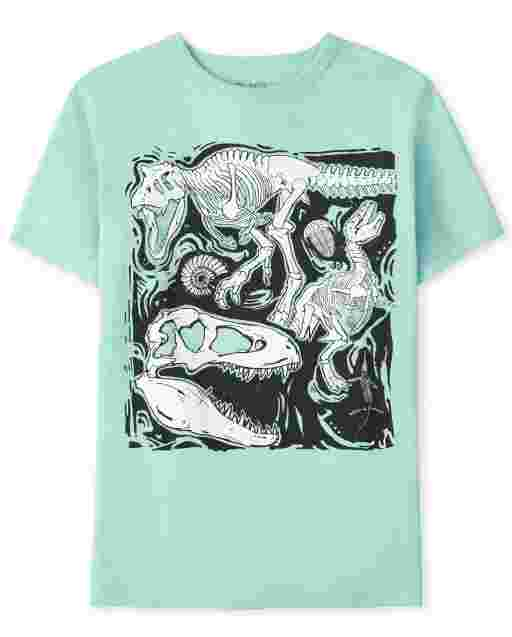 Boys Short Sleeve Dino Graphic Tee