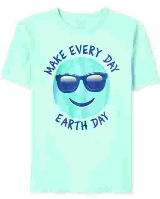 Boys Short Sleeve 'Make Every Day Earth Day' Graphic Tee