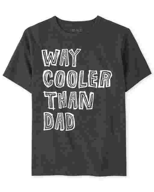 Camiseta ' Way más fresca que papá ' manga corta para niños