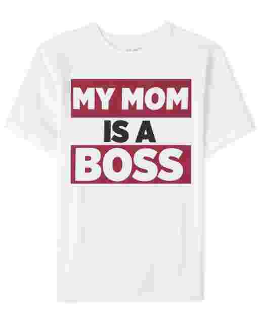 Camiseta ' My Mom Is A Boss ' manga corta para niños
