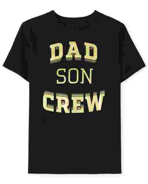 Camiseta con estampado familiar de manga corta ' Dad Son Crew '