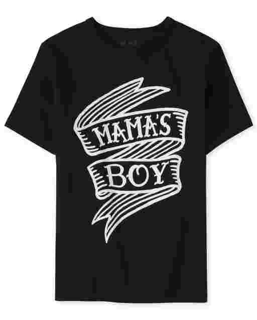 Camiseta de manga corta para niños ' Mama ' s Boy '