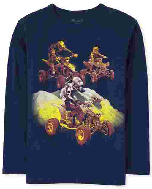 Boys Long Sleeve Extreme Sports Graphic Tee