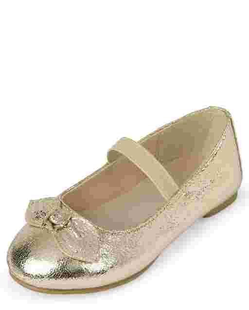 Zapatillas de ballet con lazo para niñas pequeñas