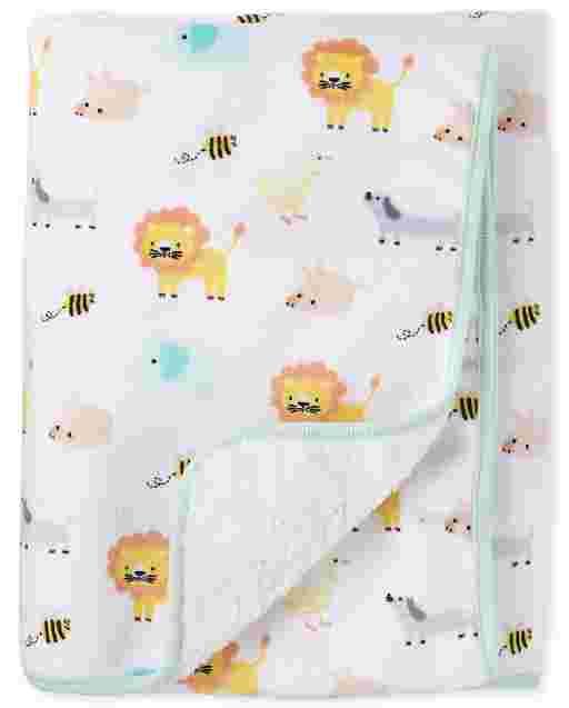 Baby Boys Animals Print Cozy Blanket