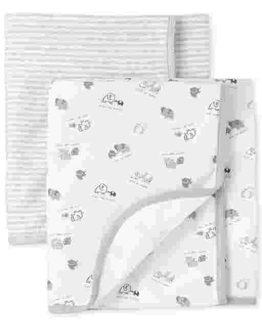 Unisex Baby Elephant Swaddle Blanket 2-Pack