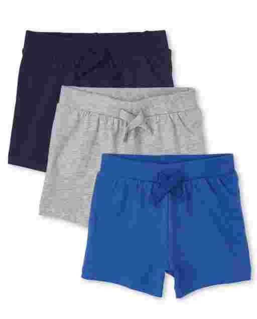 Baby Boys Knit Shorts 3-Pack