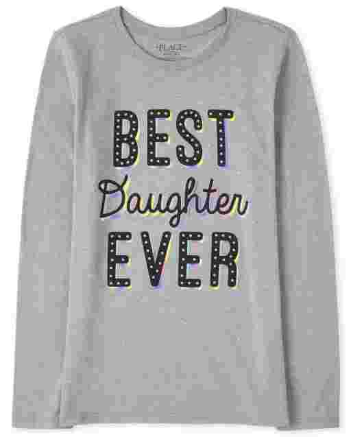Camiseta de manga larga para niñas ' Best Daughter Ever '