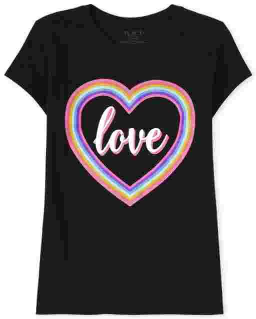 Camiseta ' Love ' manga corta para niñas