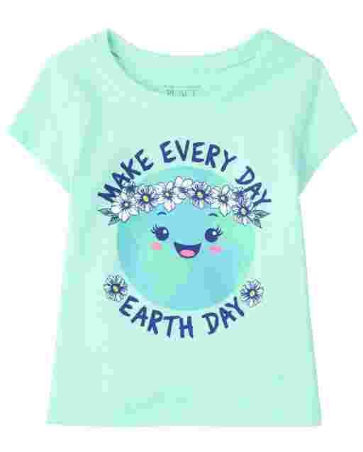 ' Make Every Day Earth Day ' manga corta para bebés y niñas pequeñas