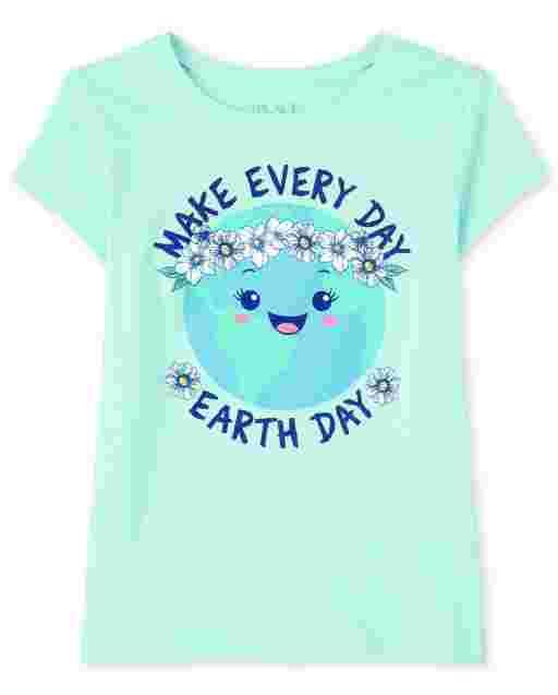 Camiseta estampada de manga corta ' Make Every Day Earth Day '