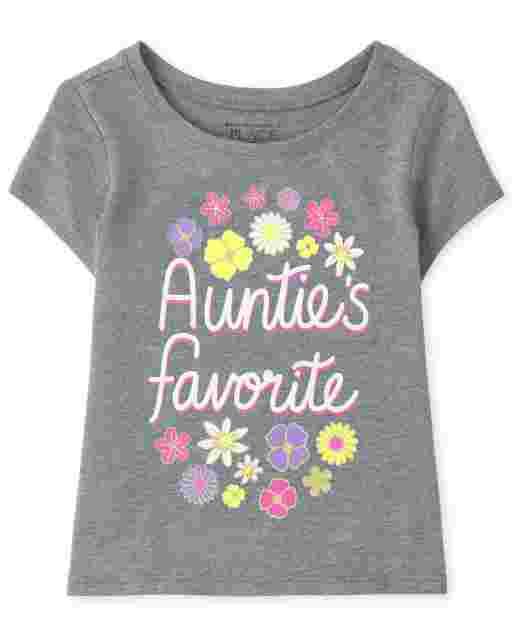 Camiseta de manga corta para bebés y niñas pequeñas ' Auntie ' s Favorite ' Graphic Tee