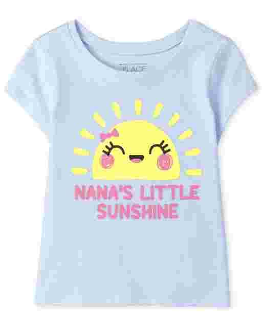 Camiseta de manga corta para bebés y niñas ' Nana ' s Little Sunshine ' Graphic Tee