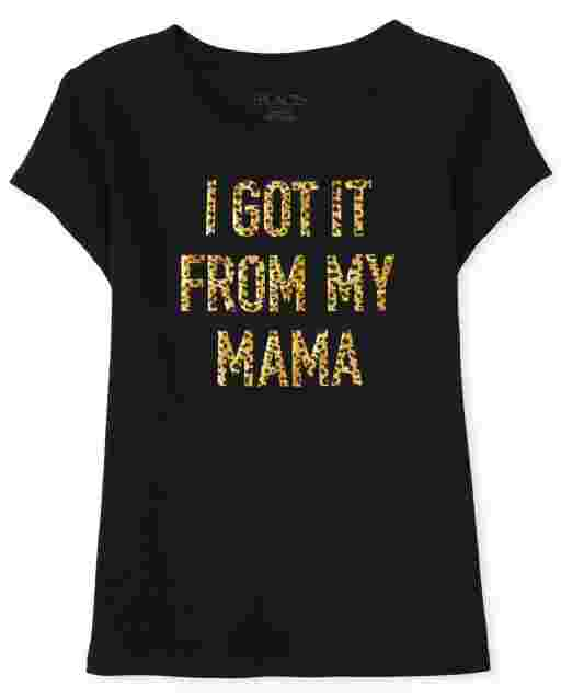 Girls Mommy And Me Short Sleeve 'I Got It From My Mama' Graphic Tee