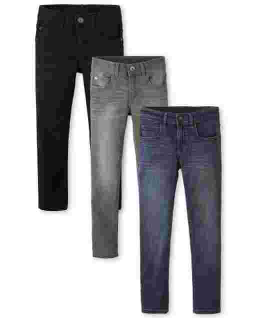 Boys Super Skinny Stretch Jeans 3-Pack