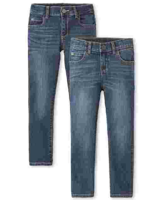Boys Stretch Skinny Jeans 2-Pack
