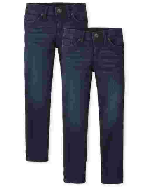 Girls Basic Skinny Jeans 2-Pack