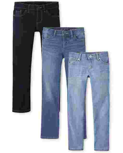 Paquete de 3 jeans ajustados básicos para niñas