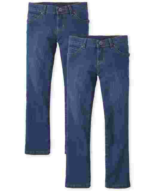 Girls Basic Bootcut Jeans 2-Pack
