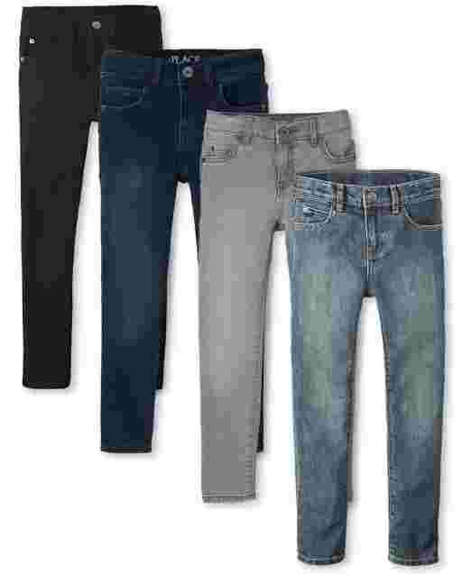 Boys Stretch Skinny Jeans 4-Pack