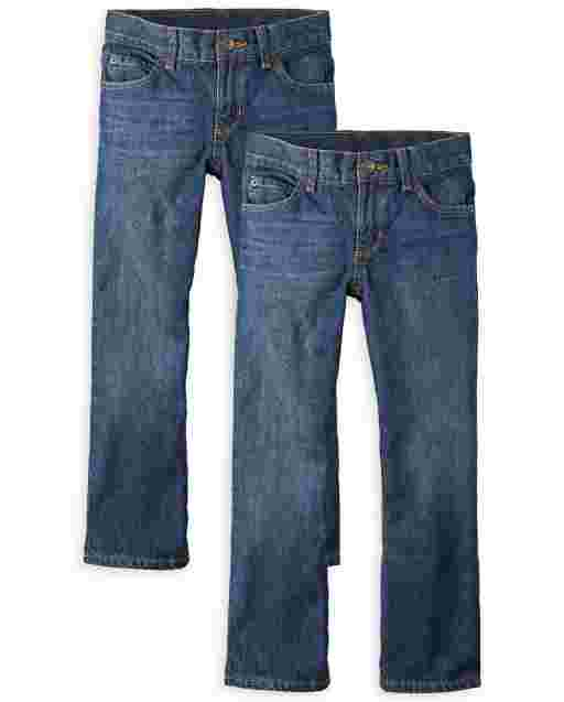 Boys Bootcut Jeans 2-Pack