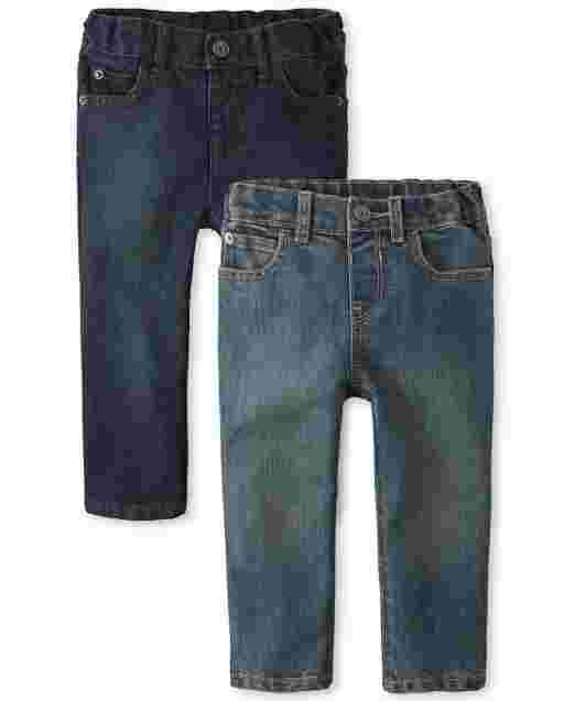 Baby And Toddler Boys Basic Skinny Jeans 2-Pack