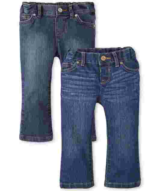 Baby And Toddler Girls Basic Bootcut Jeans 2-Pack