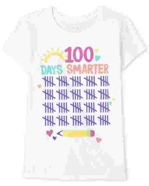 Girls Short Sleeve '100 Days Smarter' Graphic Tee