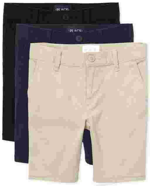 Girls Uniform Woven Chino Shorts 3-Pack